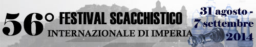 Banner 54° Festival Scacchistico Imperiese