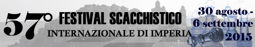 Banner 57° Festival Scacchistico Imperiese