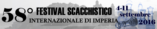 Banner 58° Festival Scacchistico Imperiese