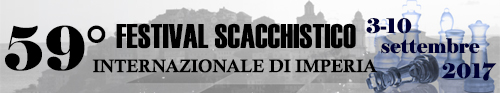Banner 59° Festival Scacchistico Imperiese