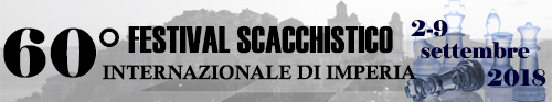 Banner 60° Festival Scacchistico Imperiese